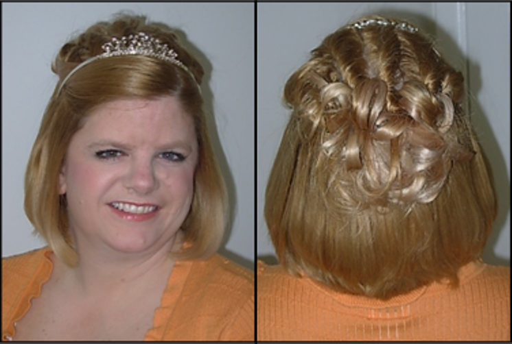 woman with updo and tiara