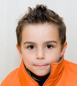 Young boy hair model