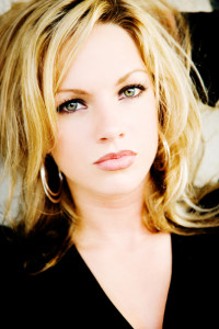 blond hair model